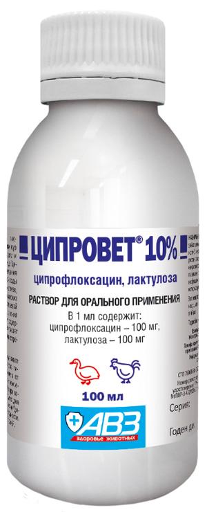 Ципровет оральный раствор 10%