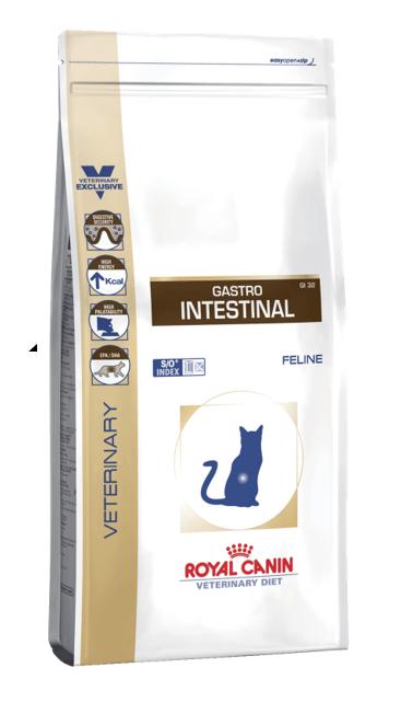 Для диетотерапии используют ветеринарное питание Gastro Intestinal любого производителя